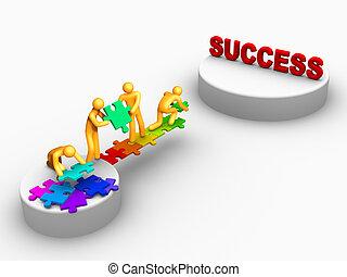 trabajo, éxito, equipo