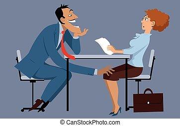 trabajo, acoso sexual