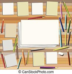 Trabajo de arte escritorio de primera vista