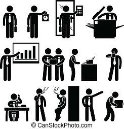 Trabajo de empleado de negocios