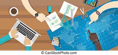 Trabajo de equipo de trabajo de colaboración