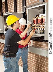 Trabajo de mantenimiento industrial