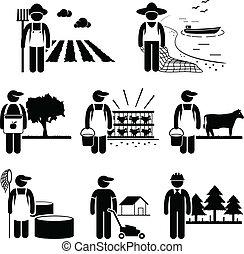 Trabajo de plantación agrícola