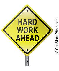 trabajo, duro, adelante