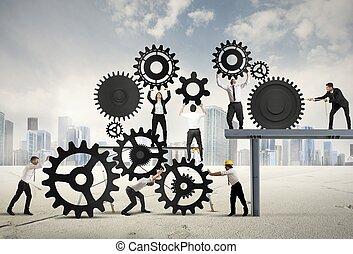 trabajo en equipo, businesspeople