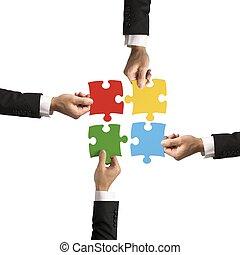 trabajo en equipo, concepto, sociedad