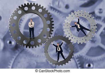 Trabajo en equipo y concepto de esfuerzo en equipo