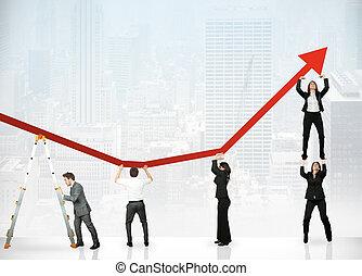 Trabajo en equipo y ganancias corporativas