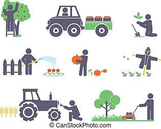 trabajo, jardín