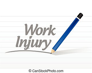 trabajo, lesión, señal, mensaje
