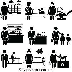 Trabajos de salud médica