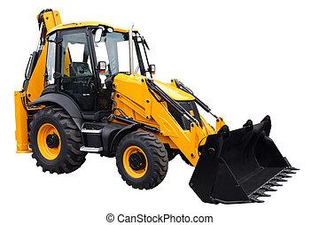 tractor, amarillo