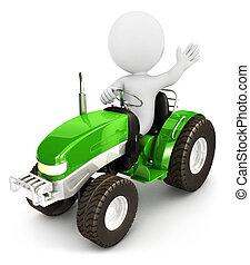 Tractor de 3D blancos