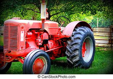 Tractor de granjas rojas