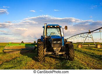 tractor de la granja