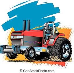 Tractor jalado