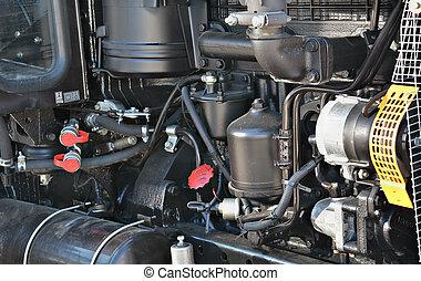 tractor, motor