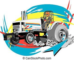 Tractor tirando