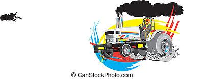 Tractor tirando del vector