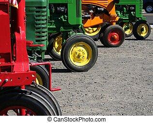 tractores coloridos