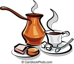 tradicional, café turco