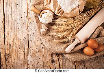 tradicional, cocina, ingredientes