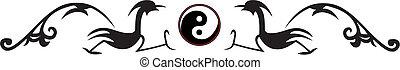 tradicional, corte instrumentos de crédito, chino