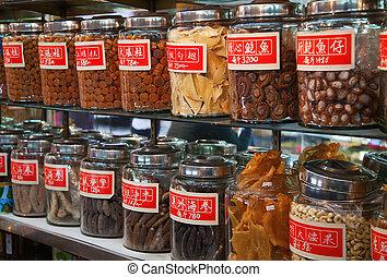 tradicional, tienda, chino