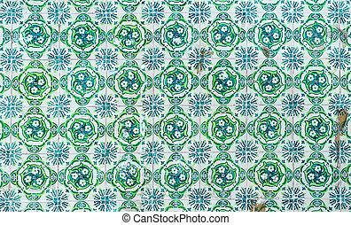 tradicional, vendimia, azulejos, azulejos, portugués