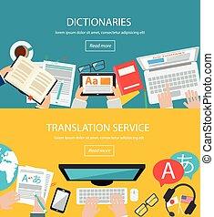 traducción, conceptos, idioma, extranjero