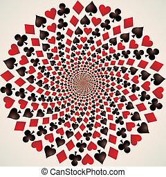 Traje de cartas. Jugando a las cartas. Arte opcional
