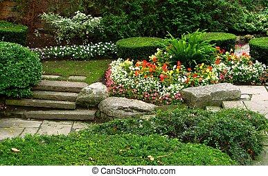 tranquilidad, jardín