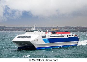 transbordador, velocidad