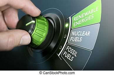 Transición de energía, energías renovables