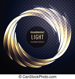 Transparente efecto luz brillante vector remolino fondo