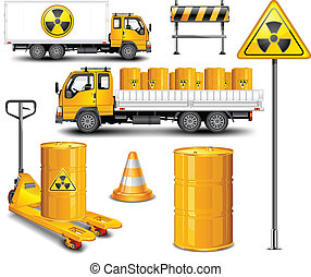 Transporte con residuos radioactivos