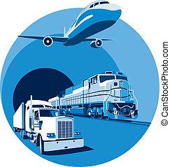 Transporte de carga azul