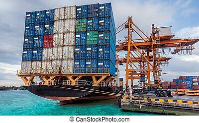 Transporte de carga de carga de carga de carga de carga de carga de la grúa
