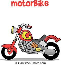 Transporte de caricaturas de motocicleta