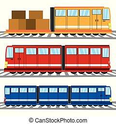 Transporte de iconos planos
