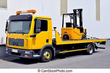 Transporte de un camión de transporte