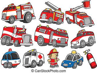 Transporte de vehículos de rescate listo