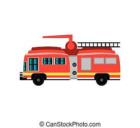 transporte, emergencia, firetruck