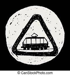 tranvía, garabato