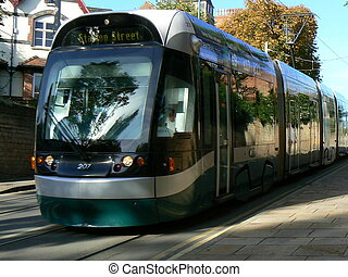 tranvía, nottingham