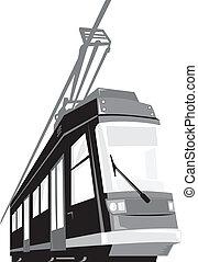 tranvía, tranvía, tren, moderno