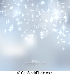 Trasfondo abstraído y borroso con estrellas brillantes