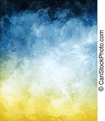 Trasfondo abstracto acuarela amarilla azul