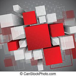 Trasfondo abstracto con cubos 3D