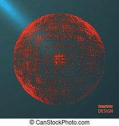 Trasfondo abstracto con diseño futurista.